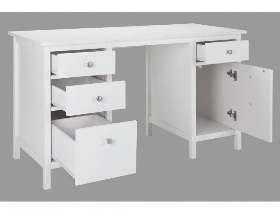 Superior Bureau Blanc Avec Tiroir Desk Office Desk Furniture