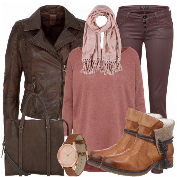Herbst Outfits: Tatiana bei ____ Braune