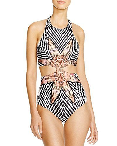b280e071ed6bd Oops Style Womens Tropical Tribal Starbasket Knot Front Padded One Piece  Swimsuits * Find out more about the great product at the image link.