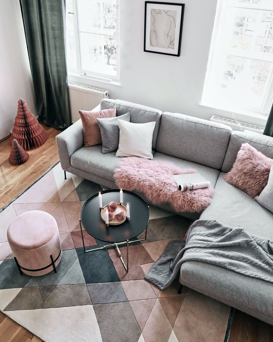 The Beginner S Guide To Decorating Living Rooms Couches Living Room Pink Living Room Living Room Scandinavian