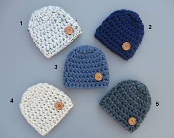 Baby Boy Hat Crochet Baby Hat Baby Boy Beanie Chunky Baby Hat Baby Button Hat Newborn Boy Hat Baby Beanie Crochet Baby Hat Boy Baby Hat