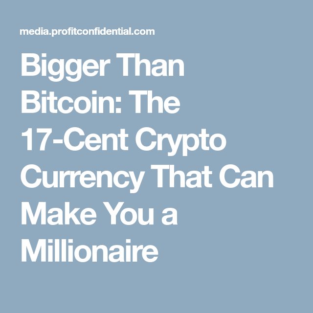 the 17 cent cryptocurrency that can make you a millionaire