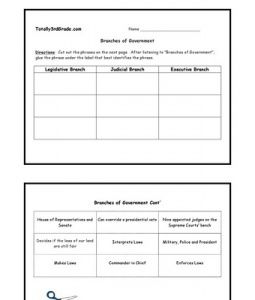 3rd Grade Branches Of Government Worksheet Branches Of