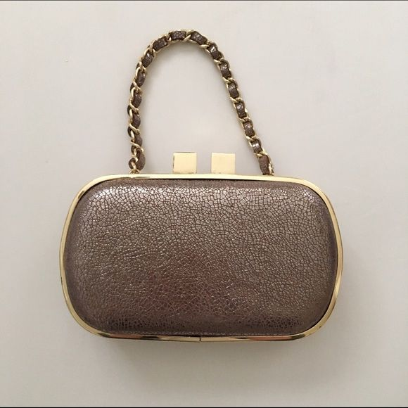 Mini Clutch Small clutch with wrist strap. Only used a couple times. Great condition! Gorjana Bags Clutches & Wristlets