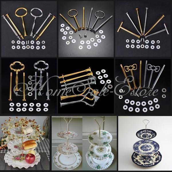 Cake Plate Stand Handle Wedding Party Tea Fitting Hardware Rod 2 3 Tier 2 37 55 Shipping With Images Cake Stand Fittings Cake Plates Plate Stands