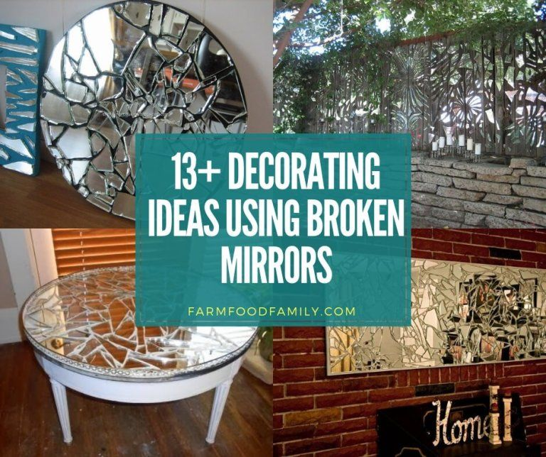 how to fix a cracked mirror dresser