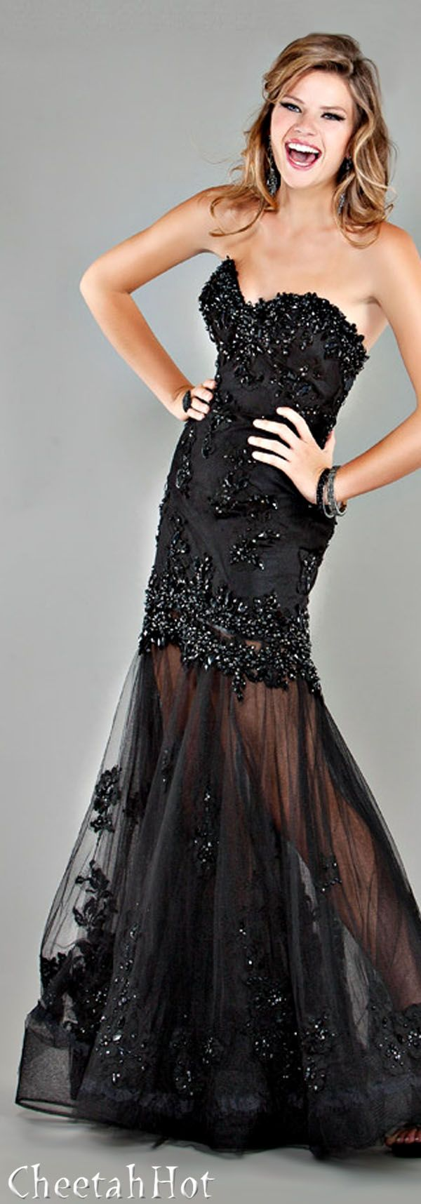 Jovani beautiful black gown la femme mode pinterest gowns