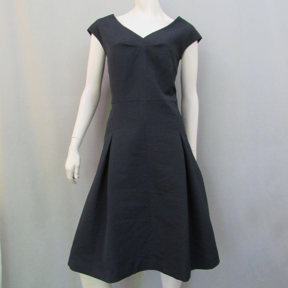 Talbots Dress 20 Black Box Pleat A Line Cocktail New #Talbots #ShiftSundress #Cocktail