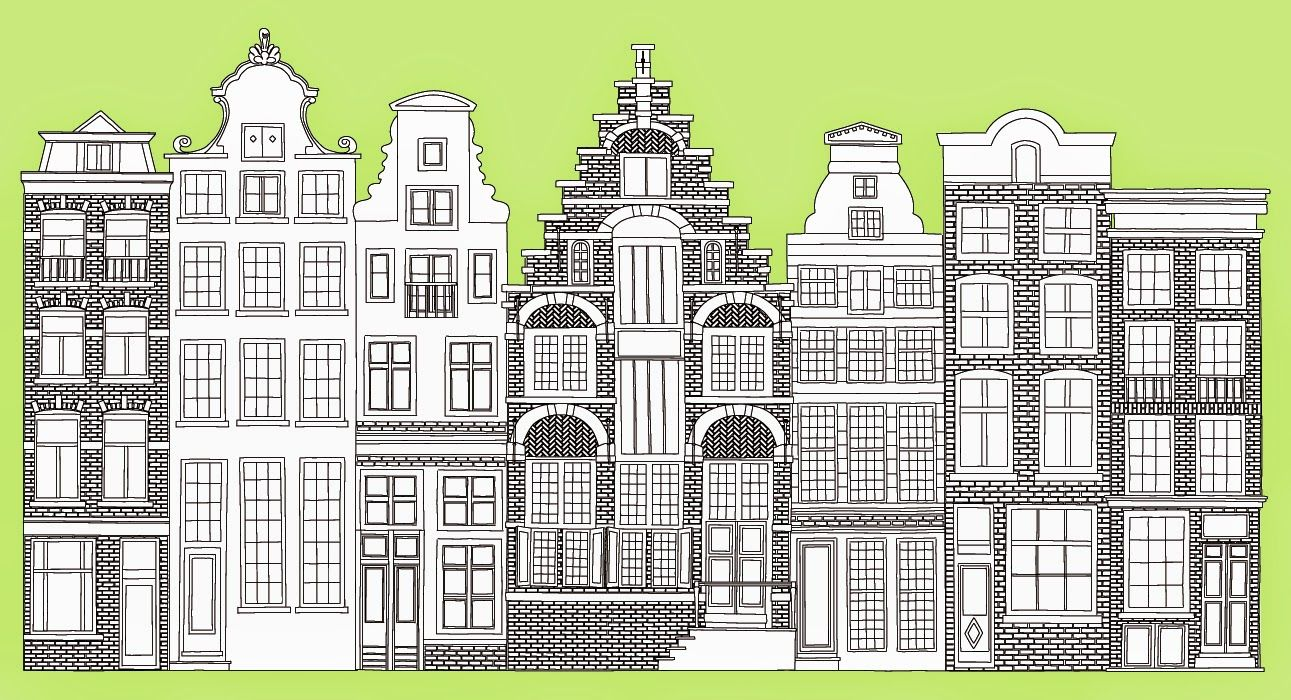 Zartartz Amsterdam Street Elevation Custom Art By Esther Vreeland And Stephen Dumayne Ramen Schilderen Kranten Kunst Afbeeldingen