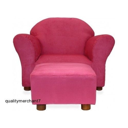 Merveilleux Hot Pink Chair Ottoman Microsuede Fantasy Furniture Princess Kids Child  Size New