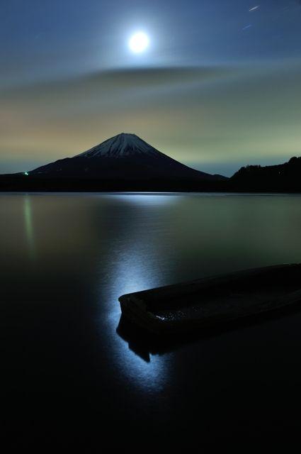 Moonlight over Mt. Fuji