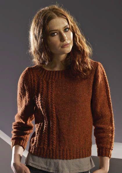 Free Rowan Felted Tweed DK Wonky Sweater Pattern Paradise Fibers