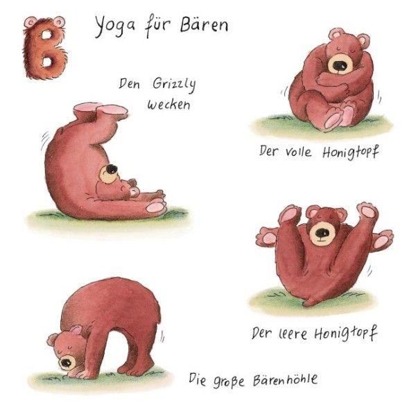 yoga für tiere - Bären | Kinder | Pinterest | Yoga