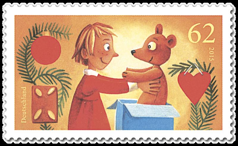 Briefmarken2015 Christmas stamps, Stamp