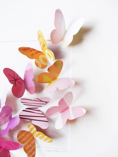 butterfly crafty projects pinterest basteln diy basteln und selbermachen. Black Bedroom Furniture Sets. Home Design Ideas