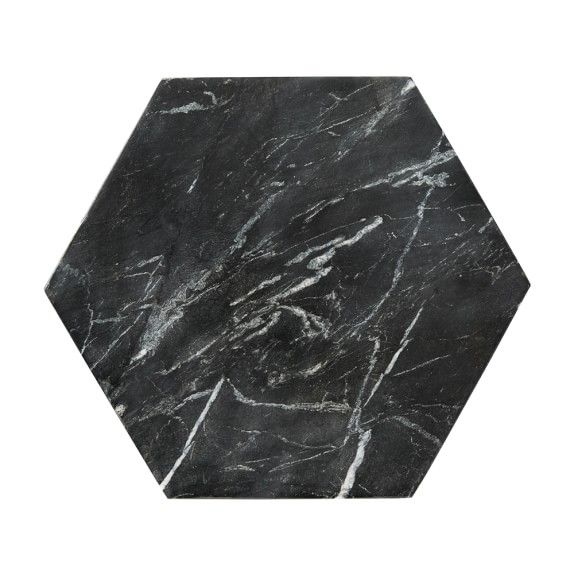Williams Sonoma Marble Hexagon Trivet Black Black Marble Countertops Hexagon Honed Granite