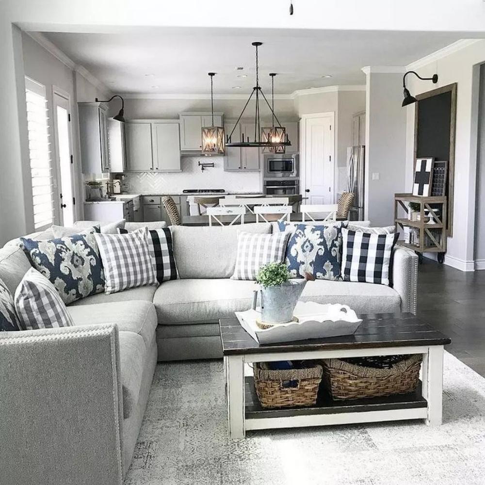 58 Amazing Farmhouse Living Room Design Ideas 76 Home De