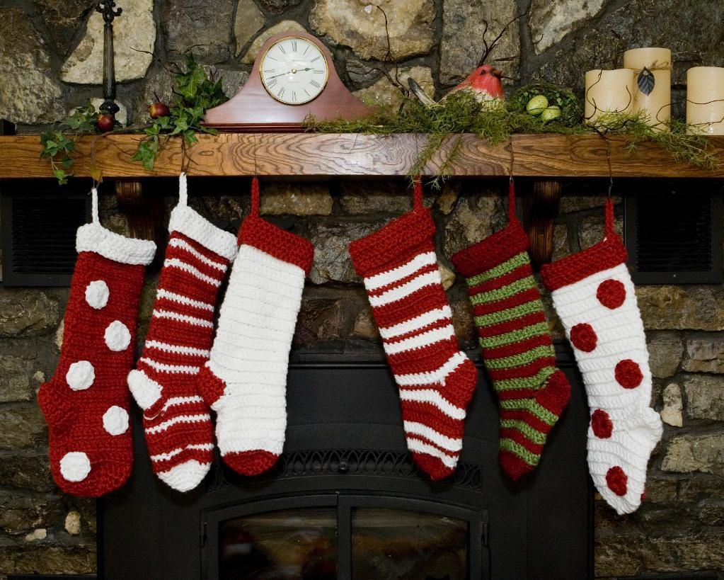 Crochet Christmas Stockings Quick / Easy | Weihnachtsdekoration, Diy ...