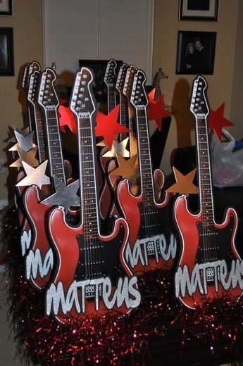 rock star party place 1st birthday rock star musts hand made rh pinterest com