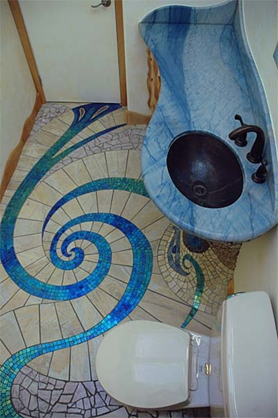 Diy Spiral Mosaic Tile Floor Tile Flooring Mosaics And Spiral