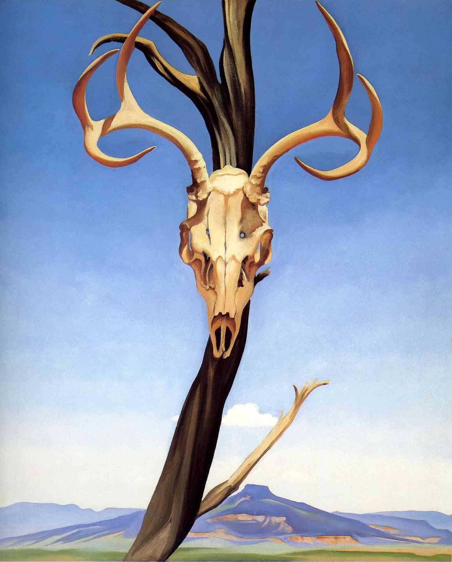 Georgia O'Keeffe Skull