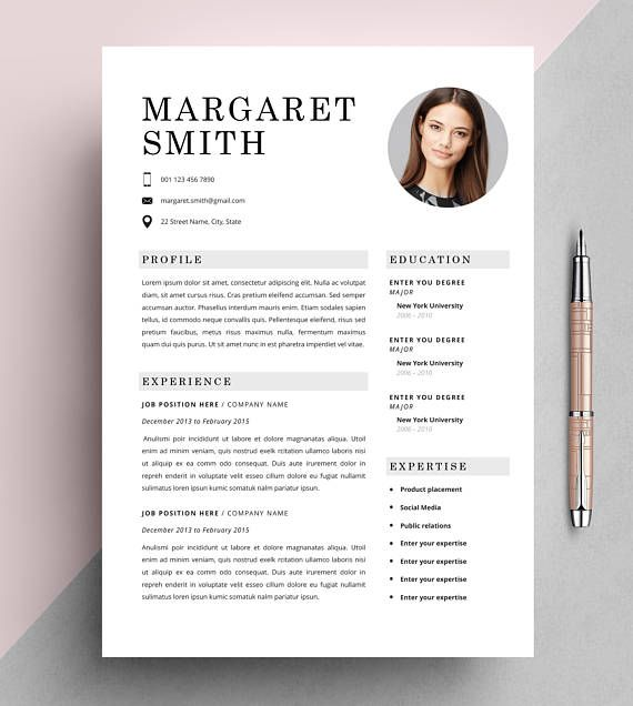 Universal Classic Resume Template Cv Template Instant Download Editable In Ms Word And Pages Cover Letter Size A4 And Us Letter Lebenslauf Lebenslauf Design Lebenslaufvorlage