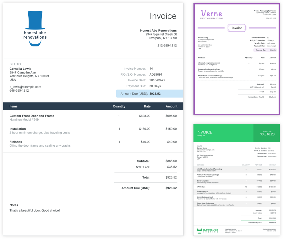 Customizable Invoice Templates Are Part Of The Free Software Dog - Customizable invoice