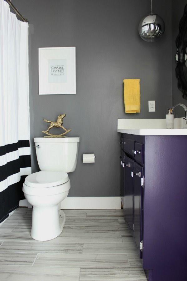 Eclectic Home Tours The 70 S Landing Pad Tour Part 1 Bathroom Purplegray