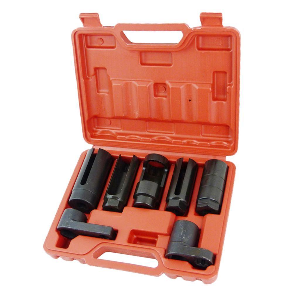 Oxygen sensor socket set 7pc oxygen sensor removal