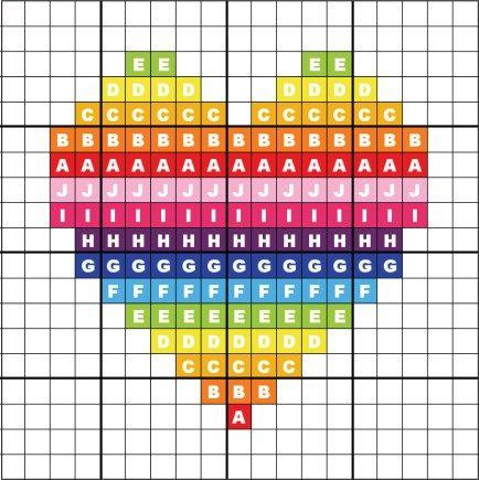 Photo of cross stitch heart chart