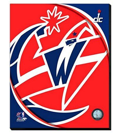Washington Wizards Team Logo Canvas Framed Over With 2 Inches Stretcher Bars-Ready To Hang- Awesome & Beautiful