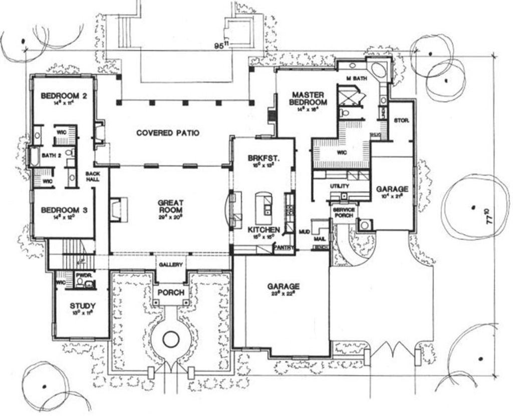 4 master bedroom house plans  Mediterranean Style House Plan   Beds  Baths  SqFt Plan