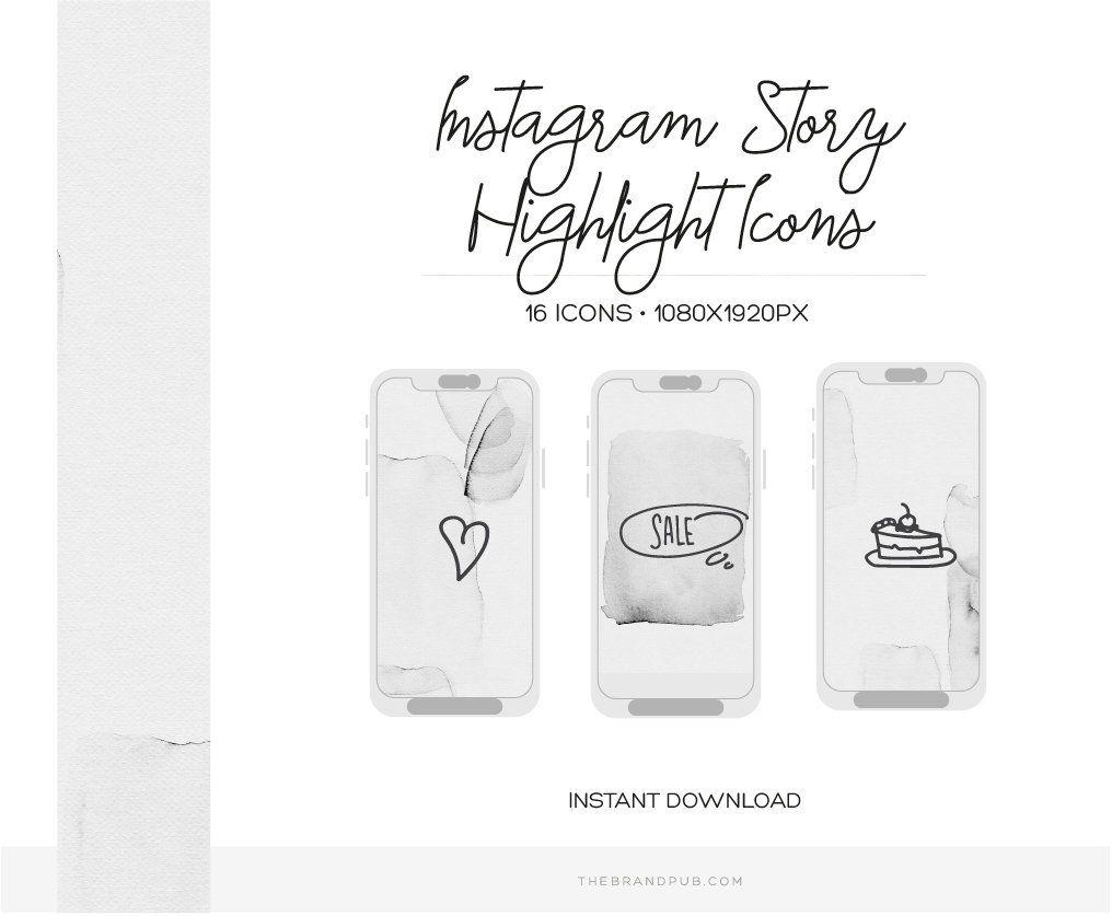 parhaat kengät uusi tyyli Tarkista Minimalist Instagram Stories Highlight covers. Hand-drawn ...