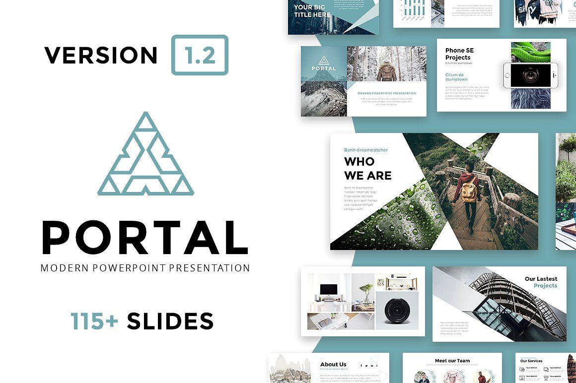 Portal Modern Powerpoint Template   Pinterest