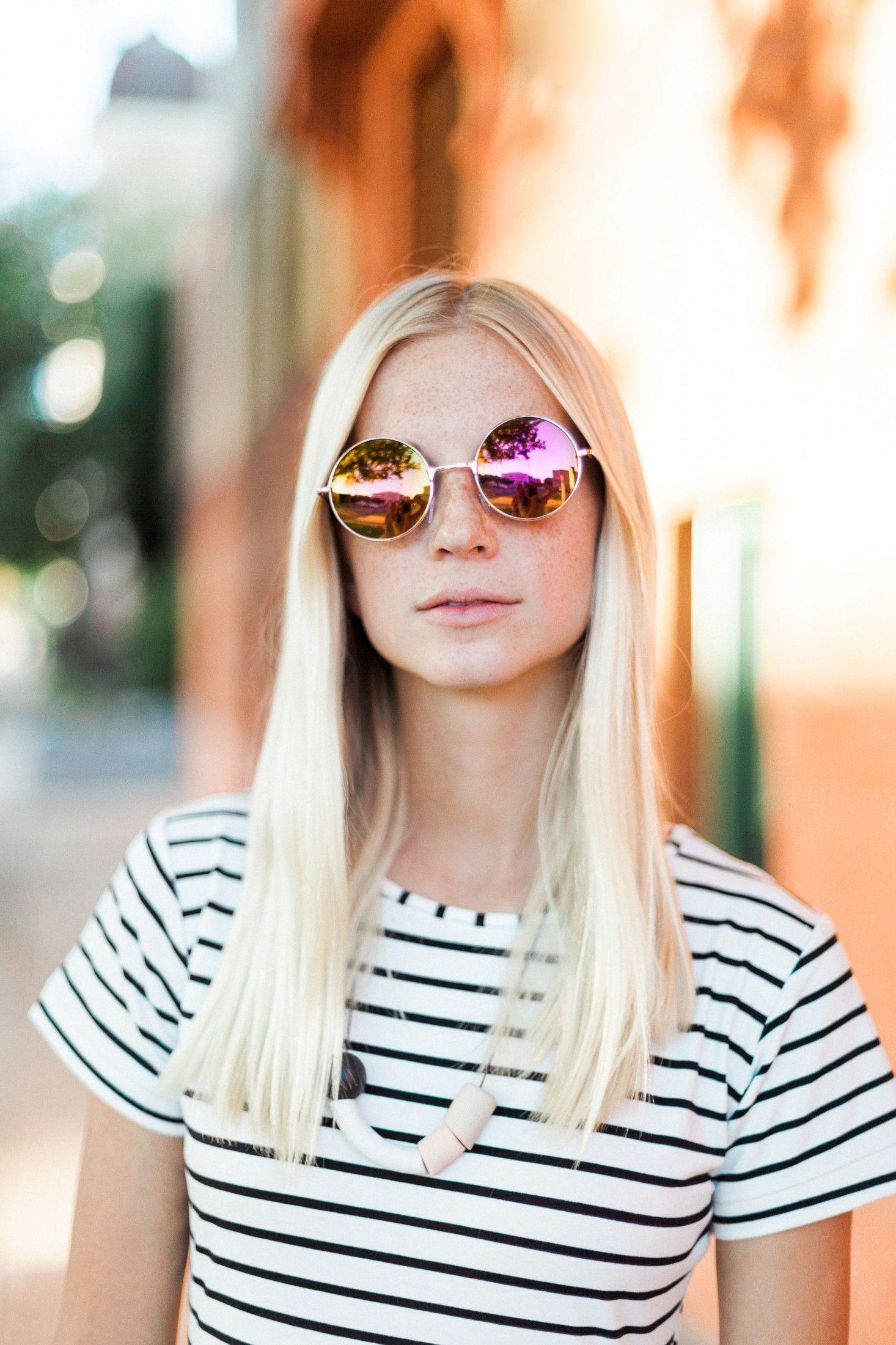 Green Round Lens Metal Frame Sunglasses - Choies.com