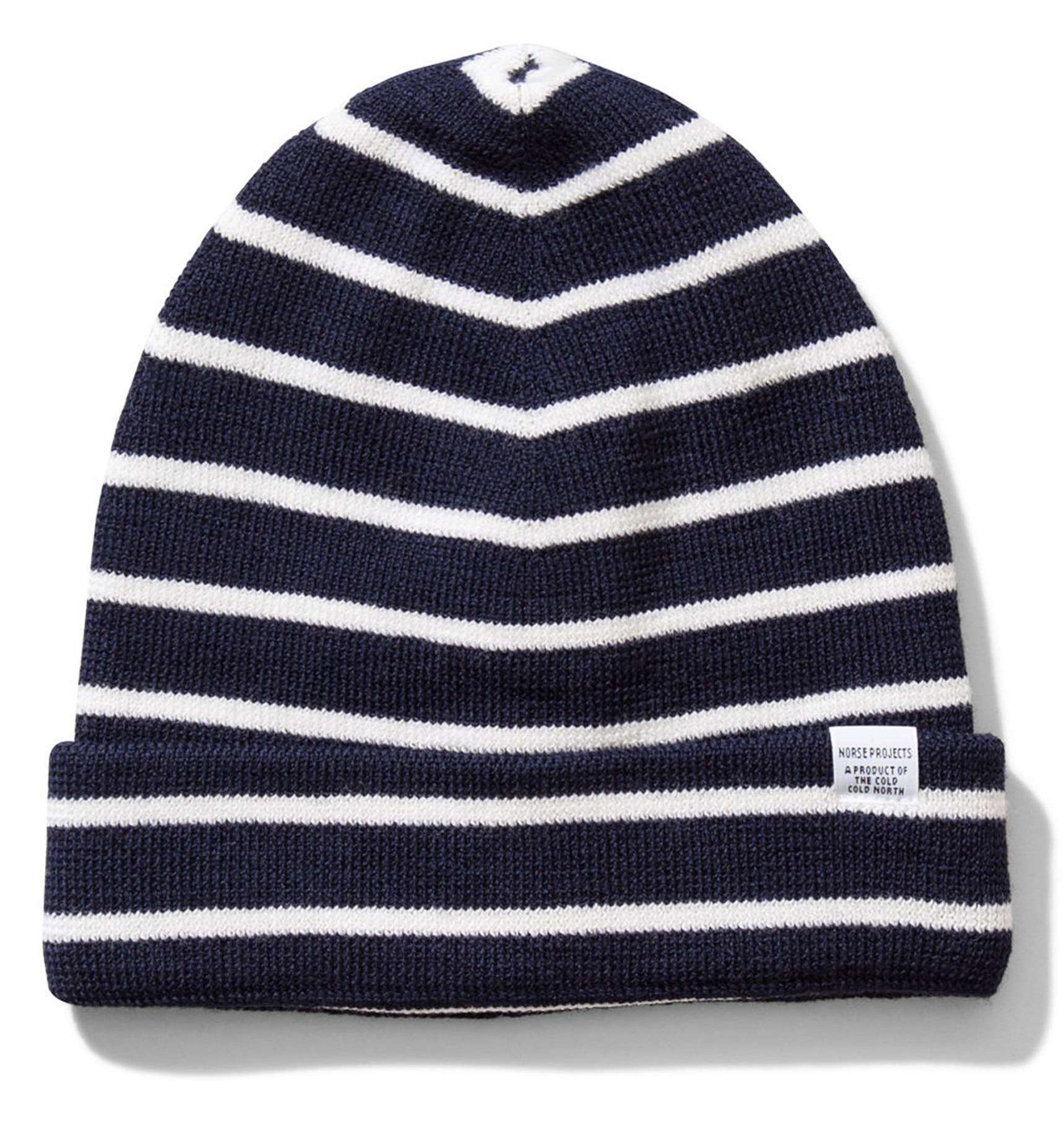 Best Mens Winter Beanies 2017  Navy Striped Wool Hat for Men 2018 ... 327bf2534b2