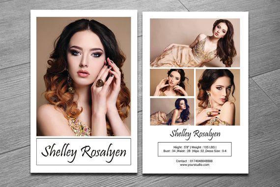 Model Comp Card Template Modeling Comp Card By Templatestock Model Comp Card Card Templates Free Photoshop Online