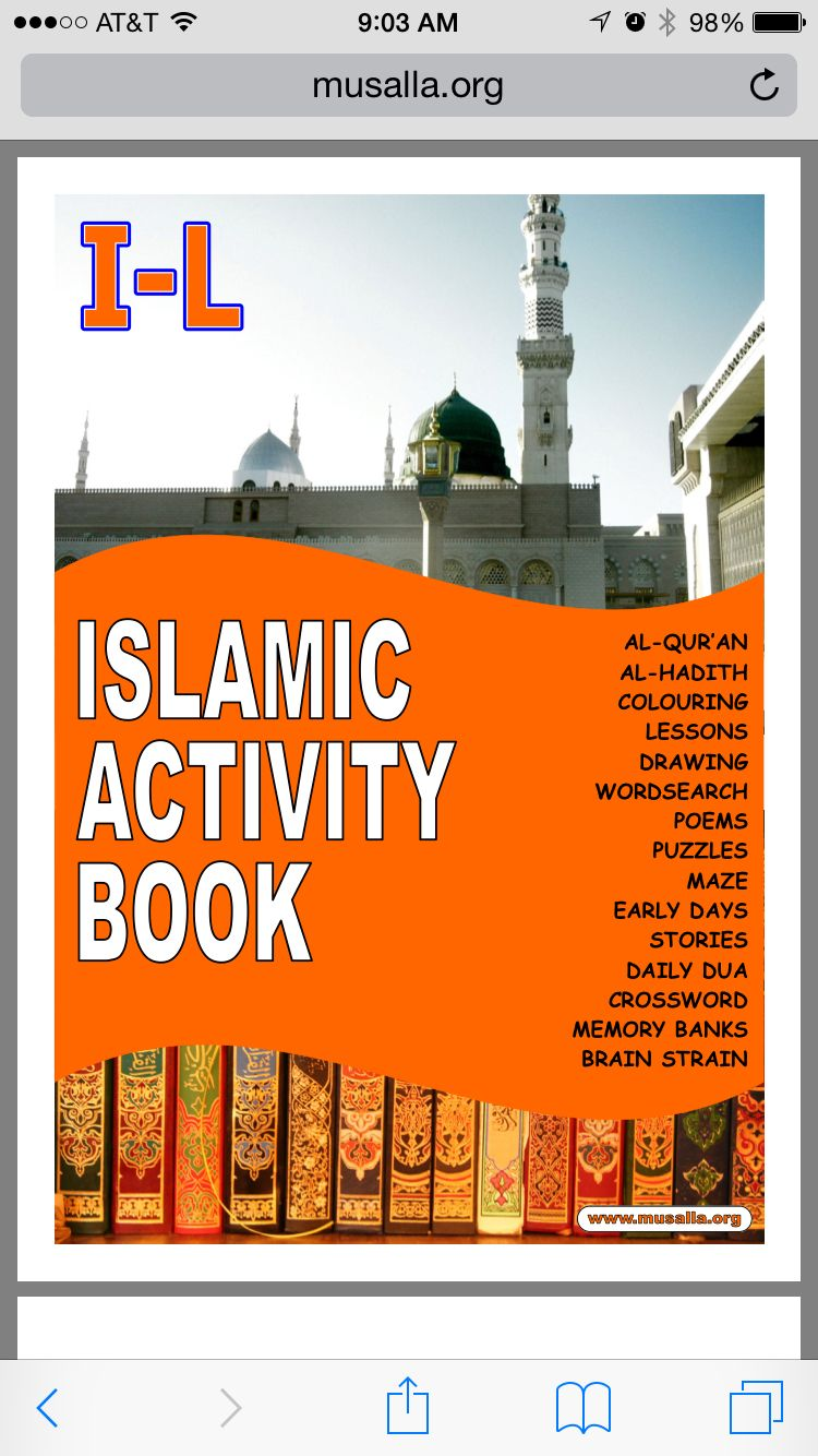 Found this great printable book online http://www.musalla.org/downloads/Activity_2.pdf