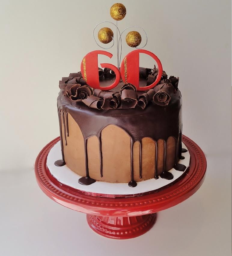 Fine 60Th Birthday Cake For A Man 8 French Vanilla Cake With Chocolate Funny Birthday Cards Online Kookostrdamsfinfo