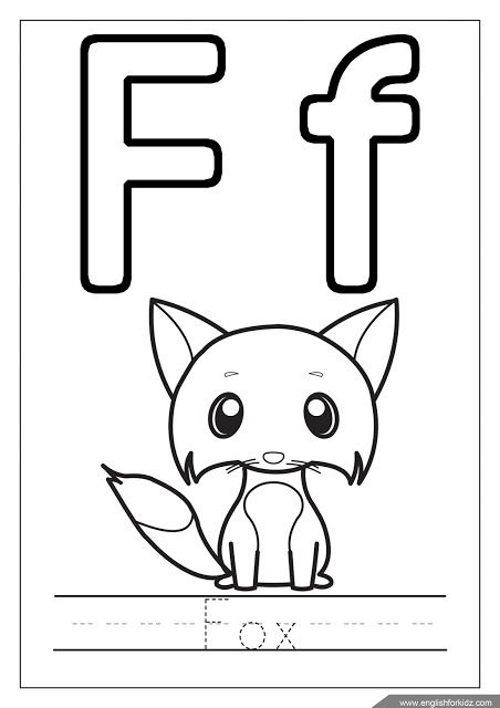 Alphabet Coloring Page Letter F Coloring F Is For Fox Alphabet