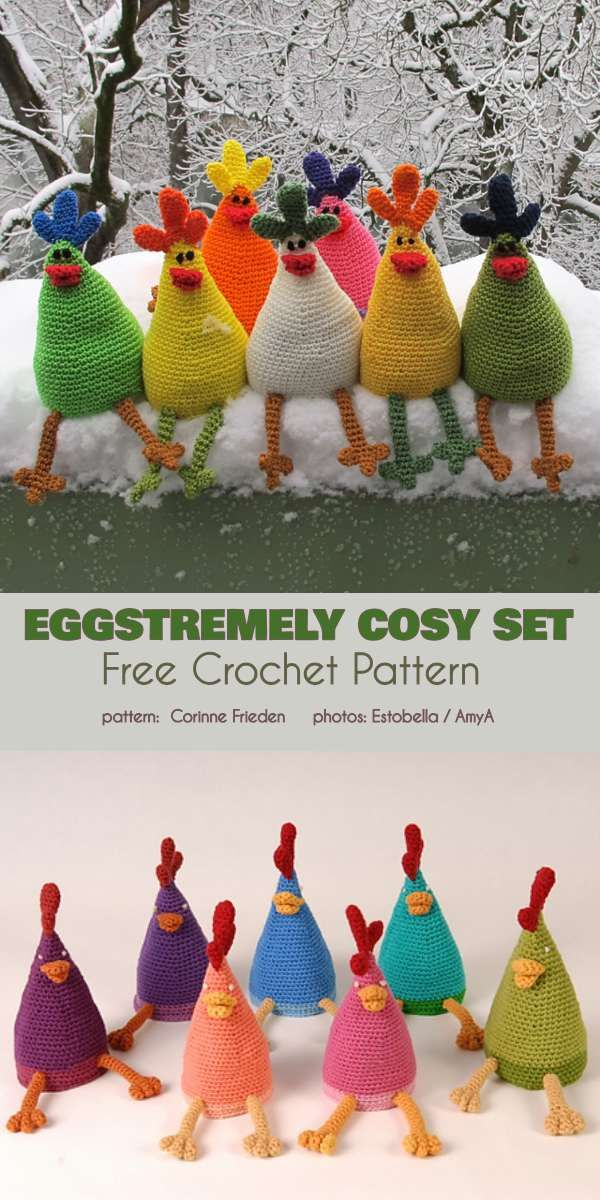 Eggstremely Cosy Set Free Crochet Pattern #eastercrochetpatterns