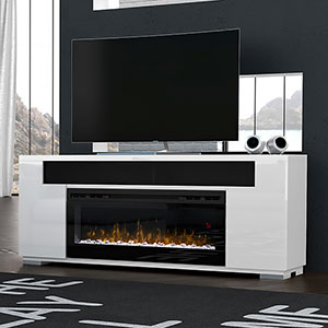 Haley Electric Fireplace Entertainment Center In White In 2020 Fireplace Entertainment Electric Fireplace Entertainment Center Fireplace Entertainment Center