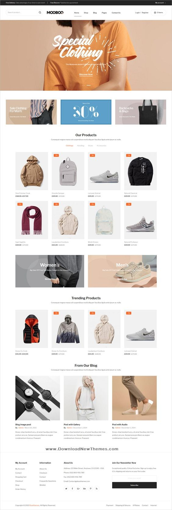 Mooboo is a clean, stylish and modern design responsive