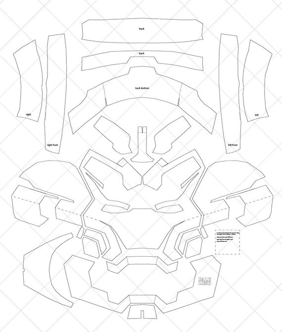 Iron Man Mark 42 Helmet A4 Letter Size Pdf Template Ready Etsy In 2021 Iron Man Helmet Iron Man Costume Diy Iron Man