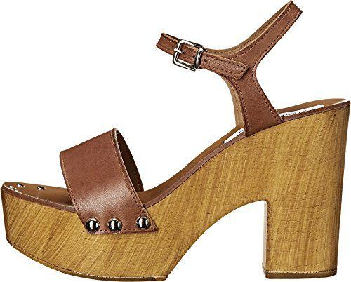 95e9cfacdae Steve Madden womens lavii platform sandal cognac leather