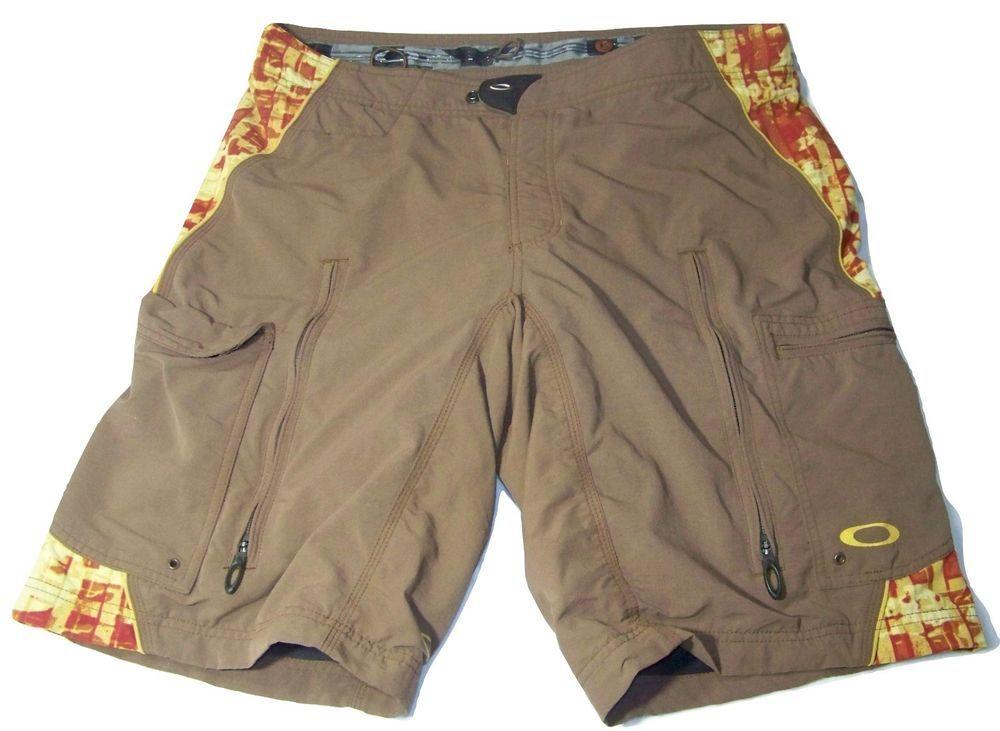 19dfe49ac57 OAKLEY Mens Mountain Bike Cycling Shorts XL Padded Brown 38