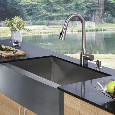 Vigo 30 X 23 Farmhouse Kitchen Sink With Faucet Grid Strainer