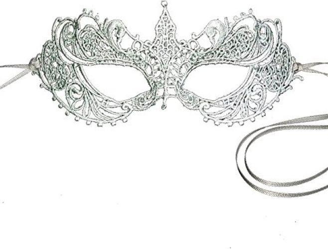 Mask Lace Masquerade Stunning Silver Grey Goddess Ana Gray