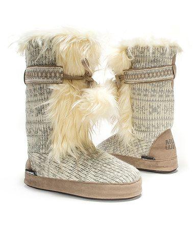 Another great find on #zulily! Winter White Jewel Slipper Boot - Women #zulilyfinds