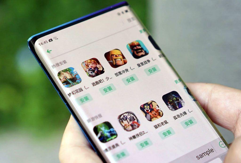 Oppo تكشف عن نموذج لهاتف بدون إطارات وتقنية Waterfall في الشاشة Smartphone Phone Samsung Galaxy Phones